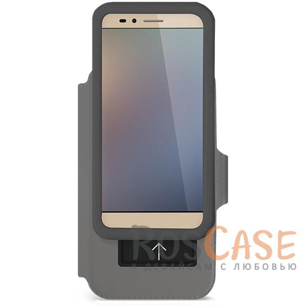 """Универсальный чехол-книжка Gresso """"Модерн"""" с магнитной застежкой для смартфона 5.5-6.0 дюйма (Черный)"""