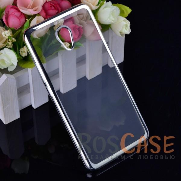 Прозрачный силиконовый чехол для Meizu M5 Note с глянцевой окантовкой (Серебряный)Описание:совместим с Meizu M5 Note;глянцевая окантовка;материал - TPU;тип - накладка.<br><br>Тип: Чехол<br>Бренд: Epik<br>Материал: TPU