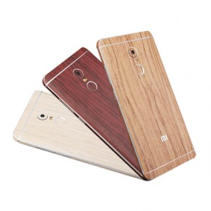 Виниловая наклейка на обе стороны c текстурой дерева для Xiaomi Redmi Note 4X (MediaTek)