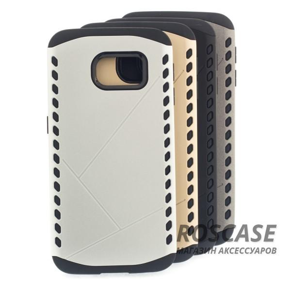 Противоударный защитный чехол Armor для Samsung Galaxy S6 Edge с усиленным прорезиненным бамперомОписание:идеально совместим с&amp;nbsp;Samsung G925F Galaxy S6 Edge;материалы: термополиуретан, поликарбонат;формат: накладка.Особенности:защита от ударов;двойной корпус;не скользит в руках;усиленный бампер;присутствуют все необходимые вырезы.<br><br>Тип: Чехол<br>Бренд: Epik<br>Материал: TPU