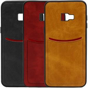 ILEVEL | Чехол с кожаным покрытием и с карманом-визитницей для Samsung J410F Galaxy J4 Core (2018)