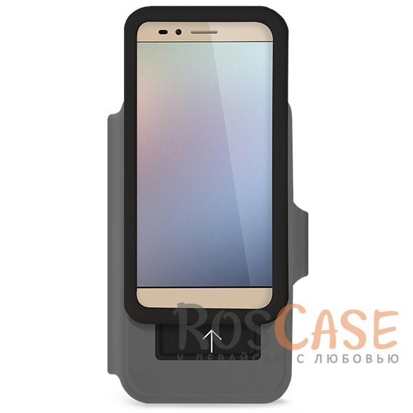 Стильный блестящий защитный чехол-книжка Gresso для смартфона с диагональю 4,9-5,2 дюйма (Черный)