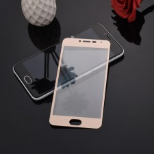 """Защитное стекло с цветной рамкой на весь экран с олеофобным покрытием """"анти-отпечатки"""" для Meizu M3 / M3 mini / M3s"""