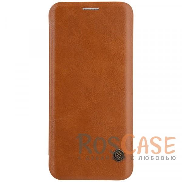 Nillkin Qin натур. кожа   Чехол-книжка для Samsung Galaxy S9 (Коричневый)Описание:разработан для Samsung Galaxy S9;материалы: натуральная кожа, поликарбонат;защищает гаджет со всех сторон;на аксессуаре не заметны отпечатки пальцев;карман для визиток;предусмотрены все необходимые вырезы;тонкий дизайн не увеличивает габариты девайса;тип: чехол-книжка.<br><br>Тип: Чехол<br>Бренд: Nillkin<br>Материал: Натуральная кожа