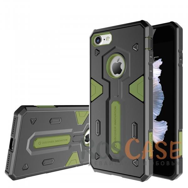 TPU+PC чехол Nillkin Defender 2 для Apple iPhone 7 (4.7) (Зеленый)Описание:производитель  - &amp;nbsp;Nillkin;совместим с Apple iPhone 7 (4.7);материал  -  термополиуретан, поликарбонат;тип  -  накладка.&amp;nbsp;Особенности:в наличии все вырезы;противоударный;стильный дизайн;надежно фиксируется;защита от повреждений.<br><br>Тип: Чехол<br>Бренд: Nillkin<br>Материал: TPU