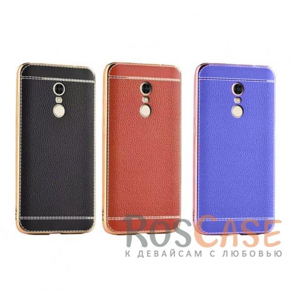 TPU чехол Genuine Leather and Steel Series для Xiaomi Redmi Note 4<br><br>Тип: Чехол<br>Бренд: Epik<br>Материал: TPU