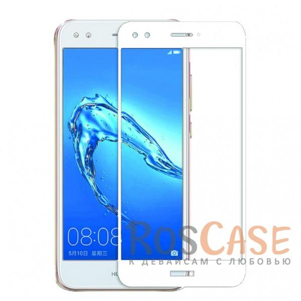 CP+ | Цветное защитное стекло для Huawei Y6 Pro (2017) / Nova Lite (2017) на весь экран (Белый)Описание:совместимо с Huawei Y6 Pro (2017) / Nova Lite (2017);материал: закаленное стекло;тип: защитное стекло на экран;полностью закрывает дисплей;толщина - 0,3 мм;цветная рамка;прочность 9H;покрытие анти-отпечатки;защита от ударов и царапин.<br><br>Тип: Защитное стекло<br>Бренд: Epik