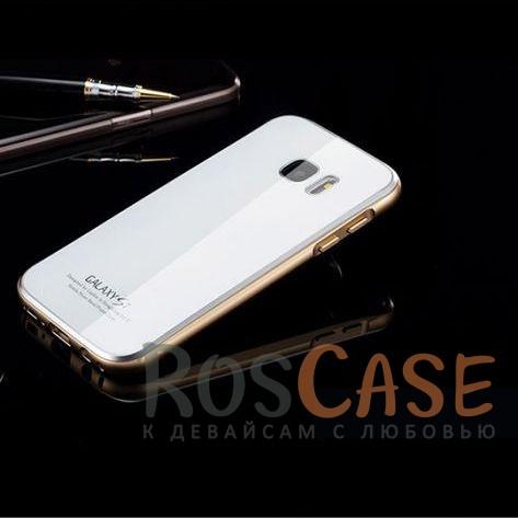 Металлический бампер Luphie с акриловой вставкой для Samsung G930F Galaxy S7 (Золотой / Белый)Описание:бренд -&amp;nbsp;Luphie;материал - алюминий, акриловое стекло;совместим с Samsung G930F Galaxy S7;тип - бампер со вставкой.Особенности:акриловая вставка;прочный алюминиевый бампер;в наличии все вырезы;ультратонкий дизайн;защита устройства от ударов и царапин.<br><br>Тип: Чехол<br>Бренд: Luphie<br>Материал: Металл