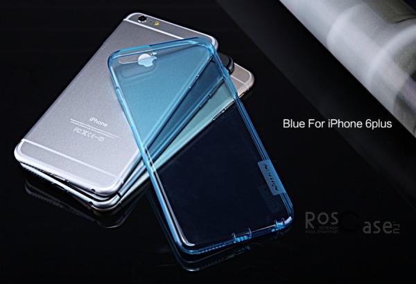 TPU чехол Nillkin Nature Series для Apple iPhone 6/6s plus (5.5) (Голубой (прозрачный))Описание:производитель  - &amp;nbsp;Nillkin;совместимость: Apple iPhone 6/6s plus (5.5);материал  -  термополиуретан;форма  -  накладка.&amp;nbsp;Особенности:в наличии все вырезы;матовая поверхность;не увеличивает габариты;защита от ударов и царапин;на накладке не видны &amp;laquo;пальчики&amp;raquo;.<br><br>Тип: Чехол<br>Бренд: Nillkin<br>Материал: TPU