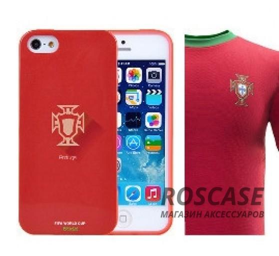 "фото TPU чехол Remax World Cup ""Portugal"" для Apple iPhone 5/5S/5SE"