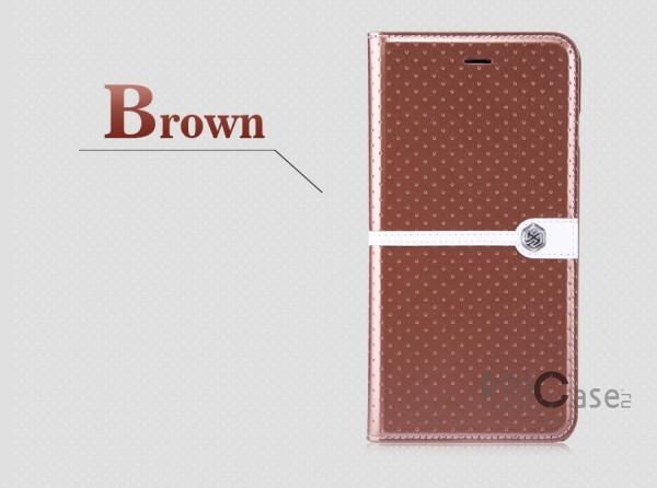 Кожаный чехол (книжка) Nillkin Ice Series для Apple iPhone 6/6s plus (5.5) (+ пленка) (Коричневый)Описание:разработка и производство компании&amp;nbsp;Nillkin;совместим с Apple iPhone 6/6s plus (5.5);изготовлен из искусственной кожи и полиуретана;гладкая поверхность;тип конструкции  -  чехол-книжка;&amp;nbsp;Особенности:внутренняя часть отделана микрофиброй;ультратонкий;пленка в комплекте;транформируется в подставку;насыщенная цветовая палитра;повышенная износоустойчивость.<br><br>Тип: Чехол<br>Бренд: Nillkin<br>Материал: Искусственная кожа