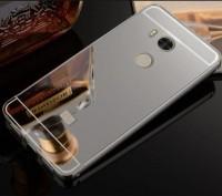 Металлический бампер для Xiaomi Redmi 4 Pro / 4 Prime с зеркальной вставкой