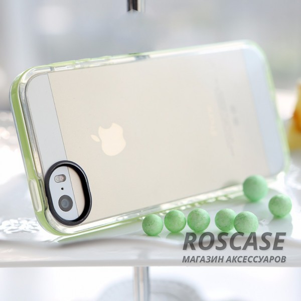 Фото Зеленый / Green TPU чехол ROCK Joyful Series для Apple iPhone 5/5S/SE