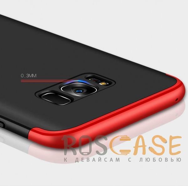 Фотография Черный / Красный GKK LikGus 360°   Двухсторонний чехол для Samsung G950 Galaxy S8 с защитными вставками