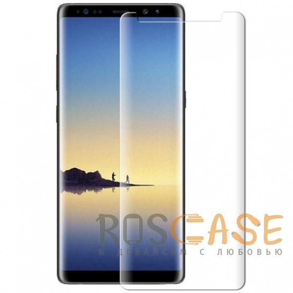 Фото Прозрачное 4D | Прозрачное защитное стекло для Samsung Galaxy Note 8 на весь экран