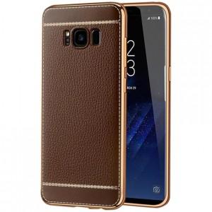 Чехол для Samsung G955 Galaxy S8 Plus с текстурой кожи