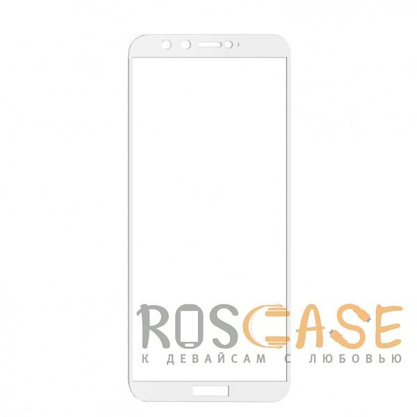Фото Белое Artis 2.5D | Цветное защитное стекло на весь экран для Huawei Honor 9 Lite на весь экран