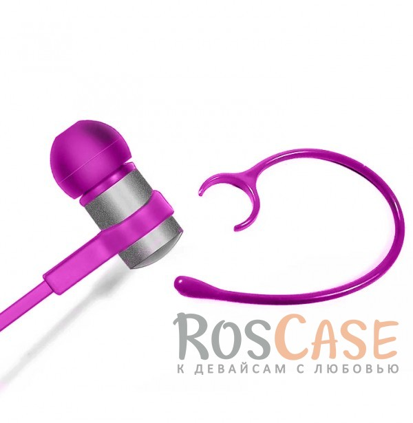 Фотография Розовый s6-1 | Спортивные беспроводные Bluetooth наушники с пультом управления и микрофоном