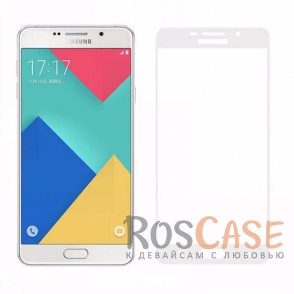 Защитное стекло CaseGuru Tempered Glass на весь экран для Samsung A510F Galaxy A5 (2016) (Белое)<br><br>Тип: Защитное стекло<br>Бренд: CaseGuru