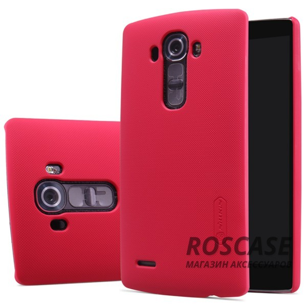 Чехол Nillkin Matte для LG H815 G4/H818P G4 Dual (+ пленка) (Красный)Описание:производитель -&amp;nbsp;Nillkin;материал - поликарбонат;разработан специально для LG H815 G4/H818P G4 Dual;тип - накладка.&amp;nbsp;Особенности:фактурная поверхность;матовый;не увеличивает габариты;не скользит в руках;не теряет цвет;пленка в комплекте.<br><br>Тип: Чехол<br>Бренд: Nillkin<br>Материал: Поликарбонат
