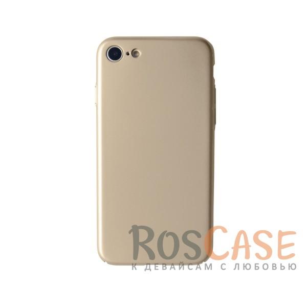 Пластиковая накладка soft-touch с защитой торцов Joyroom для Apple iPhone 7 (4.7) (Золотой)<br><br>Тип: Чехол<br>Бренд: Epik<br>Материал: Пластик