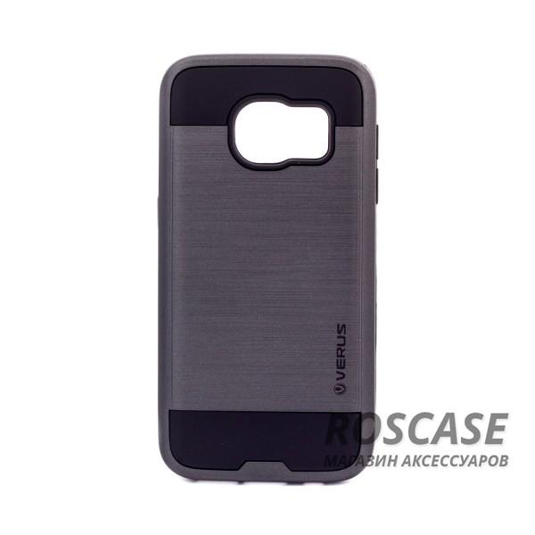 Двухслойный ударопрочный чехол с защитными бортами экрана Verge для Samsung G930F Galaxy S7 (Черный)Описание:бренд - Verge;разработан для&amp;nbsp;Samsung G930F Galaxy S7;материал - термополиуретан, поликарбонат;тип - накладка.&amp;nbsp;Особенности:защита от ударов;не препятствует работе со смартфоном;не скользит в руках;высокие бортики защищают экран;надежное крепление;укрепленная конструкция.<br><br>Тип: Чехол<br>Бренд: Epik<br>Материал: TPU