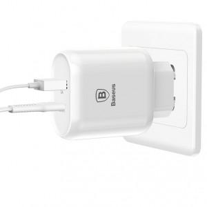 Baseus Bojure | Сетевое зарядное устройство с кабелем Type-C и функцией быстрой зарядки 32W