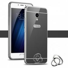 Металлический бампер для Meizu M5 Note с зеркальной вставкой