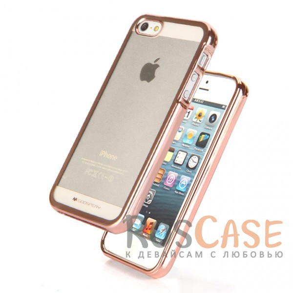 фотография Rose Gold TPU чехол Mercury Ring 2 для Apple iPhone 5/5S/SE