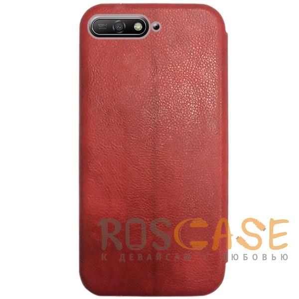 Изображение Красный Open Color 2 | Чехол-книжка на магните для Huawei Y6 (2018) с подставкой и внутренним карманом