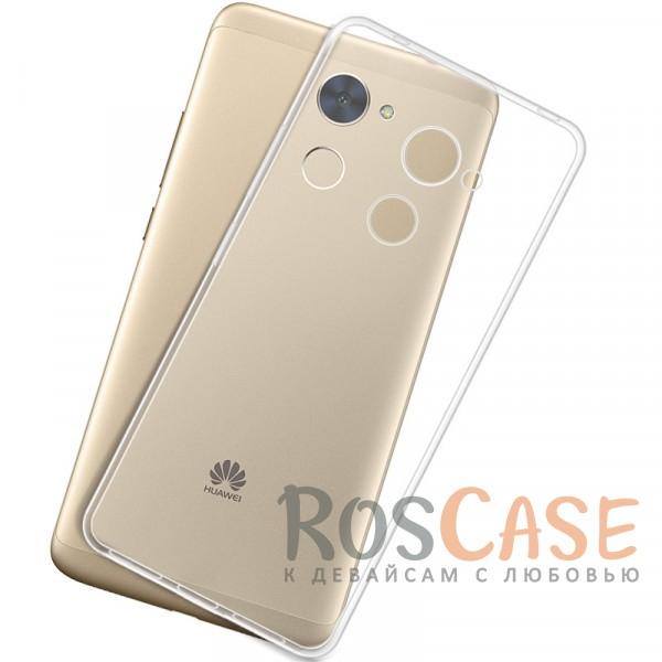 Фото Бесцветный (прозрачный) Ультратонкий силиконовый чехол для Huawei Y7 Prime