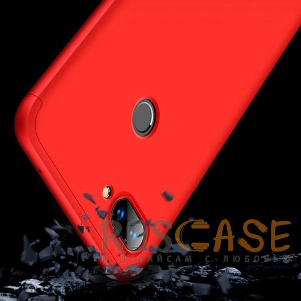 Фотография Красный GKK LikGus 360° | Двухсторонний чехол для Xiaomi Mi 8 Lite / Mi 8 Youth (Mi 8X) с защитными вставками