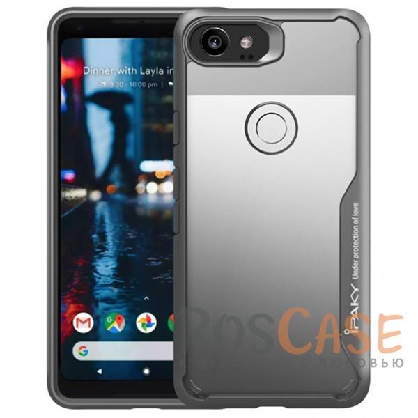 Фото Серый iPaky Luckcool | Чехол для Google Pixel 2 XL с цветными силиконовыми вставками