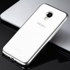 Силиконовый чехол для Meizu M5 с глянцевой окантовкой