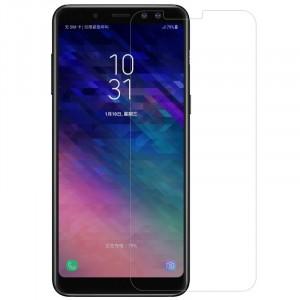 Прозрачное защитное стекло с закругленными краями и олеофобным покрытием для Samsung A530 Galaxy A8 (2018)