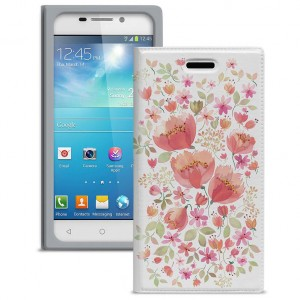 "Gresso ""Вива"" |  яркий чехол-книжка с цветочным рисунком для Samsung Galaxy J Duos 2016 (J110)"