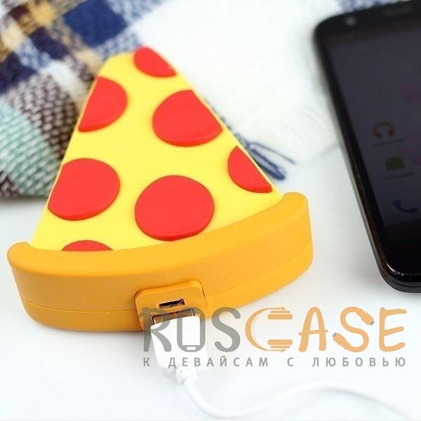 Фото Пицца Emoji   Портативное зарядное устройство Power Bank с матовым покрытием 5000mAh (1 USB 1A)