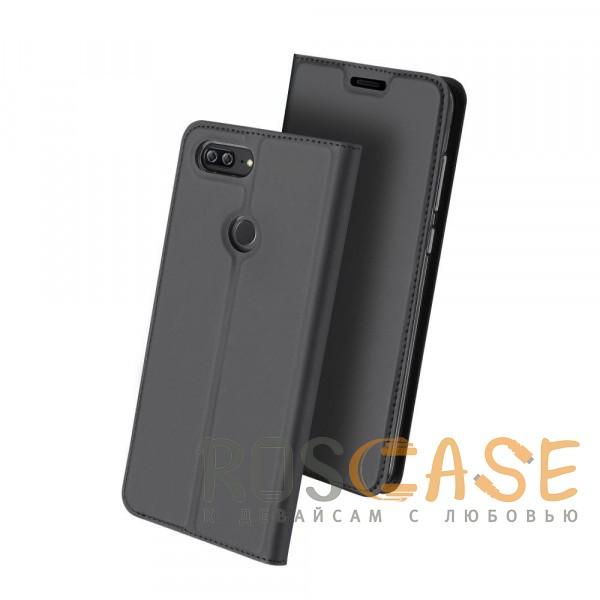 Изображение Серый Dux Ducis | Чехол-книжка для Huawei Honor 9 Lite с функцией подставки и картхолдером