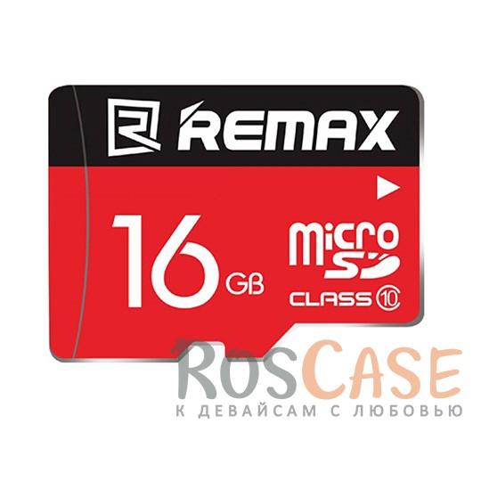 Фото Карта памяти Remax microSDHC 16 GB Card Class 10 +SD адаптер
