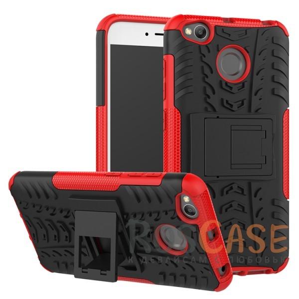 Противоударный двухслойный чехол Shield для Xiaomi Redmi 4X с подставкой (Красный)Описание:совместим с Xiaomi Redmi 4X;удобная функция подставки;материал - поликарбонат, термополиуретан;тип - накладка;ударопрочная конструкция;предусмотрены все необходимые вырезы;рельефная фактура.<br><br>Тип: Чехол<br>Бренд: Epik<br>Материал: TPU