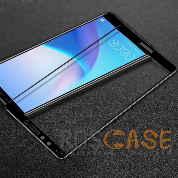 Caisles 5D | Гибкое защитное стекло для Huawei Y9 (2018) / Enjoy 8 Plus на весь экран (Черное)