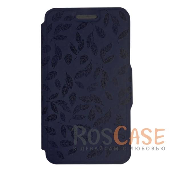 Универсальный чехол-книжка с магнитной застежкой Gresso Гланс для смартфона 4.5-4.8 дюйма (Индиго)Описание:бренд -&amp;nbsp;Gresso;совместимость -&amp;nbsp;смартфоны с диагональю 4.5-4.8&amp;nbsp;дюйма;материал - искусственная кожа;тип - чехол-книжка;защищает гаджет со всех сторон;магнитная застежка;оригинальный принт в виде листьев на обложке;предусмотрены все функциональные вырезы;ВНИМАНИЕ: убедитесь, что ваша модель устройства находится в пределах максимального размера чехла. Размеры чехла: 13*7 см.<br><br>Тип: Чехол<br>Бренд: Gresso<br>Материал: Искусственная кожа