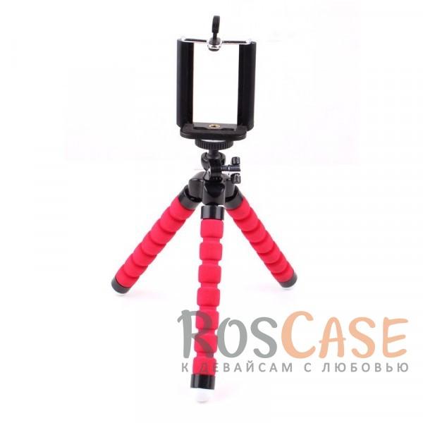 Фото Красный Гибкий штатив Осьминог для съемки видео с креплением для телефона