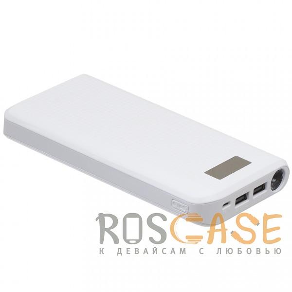 Изображение Белый Remax PPL-14 | Портативное зарядное устройство Power Bank с фонариком на 2 USB (30000 mAh)