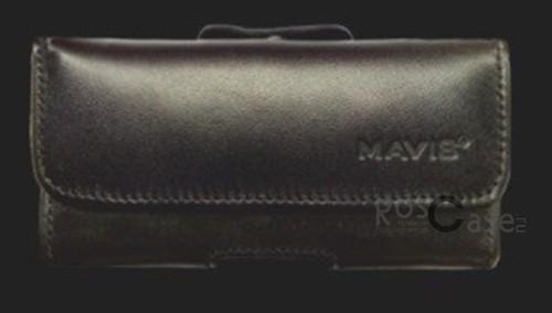 фото кожаный чехол Mavis (футляр на пояс) для Samsung S5610/Nokia 206