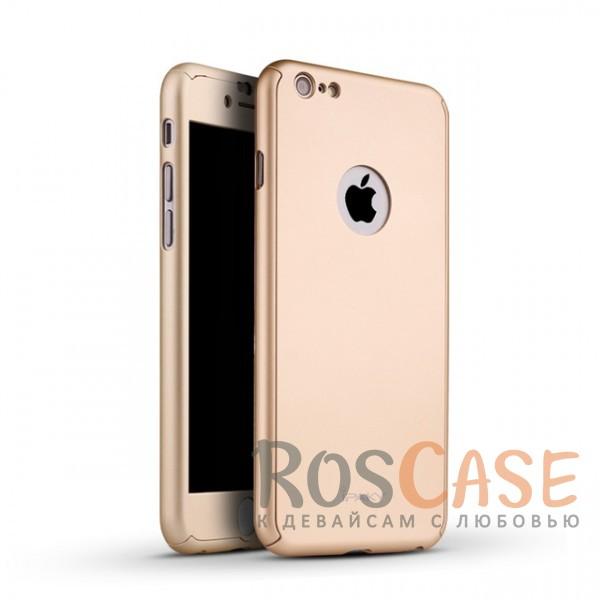 Чехол + закалённое стекло iPaky (original) 360 Full Protection (полная защита корпуса и экрана) для Apple iPhone 6/6s (4.7) (+ стекло на экран) (Золотой)Описание:производитель: iPaky;совместимость: смартфон Apple iPhone 6/6s (4.7);материалы для изготовления: поликарбонат и каленое стекло;форм-фактор: накладка.Особенности:надежная защита: чехол, бампер, стекло;высокий уровень износостойкости и прочности;ультратонкий, не увеличивает визуально объем;легко фиксируется;легко очищается.<br><br>Тип: Чехол<br>Бренд: iPaky<br>Материал: Пластик