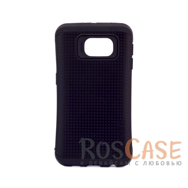 Двухслойный ударопрочный чехол с защитными бортами экрана Thor для Samsung Galaxy S6 G920F/G920D (Черный)Описание:подходит для Samsung Galaxy S6 G920F/G920D;материал - термополиуретан, поликарбонат;тип - накладка.&amp;nbsp;Особенности:не препятствует работе со смартфоном;амортизирует удары;высокие бортики защищают экран;фактурная поверхность обеспечивает хорошее сцепление;надежное крепление;двухлойный дизайн.<br><br>Тип: Чехол<br>Бренд: Epik<br>Материал: TPU