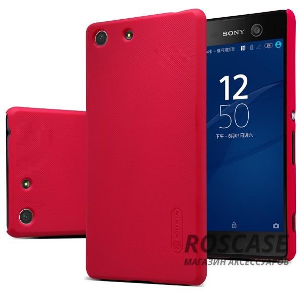 Чехол Nillkin Matte для Sony Xperia M5 / Xperia M5 Dual (+ пленка) (Красный)Описание:производитель -&amp;nbsp;Nillkin;материал - поликарбонат;совместим с Sony Xperia M5 / Xperia M5 Dual;тип - накладка.&amp;nbsp;Особенности:матовый;прочный;тонкий дизайн;не скользит в руках;не выцветает;пленка в комплекте.<br><br>Тип: Чехол<br>Бренд: Nillkin<br>Материал: Поликарбонат