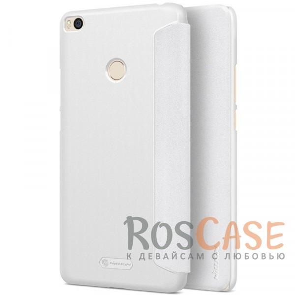 Защитный чехол-книжка для Xiaomi Mi Max 2 (Белый)Описание:бренд&amp;nbsp;Nillkin;спроектирован для Xiaomi Mi Max 2;материалы: поликарбонат, искусственная кожа;блестящая поверхность;не скользит в руках;функция Sleep mode;предусмотрены все необходимые вырезы;защита со всех сторон;тип: чехол-книжка.<br><br>Тип: Чехол<br>Бренд: Nillkin<br>Материал: Искусственная кожа