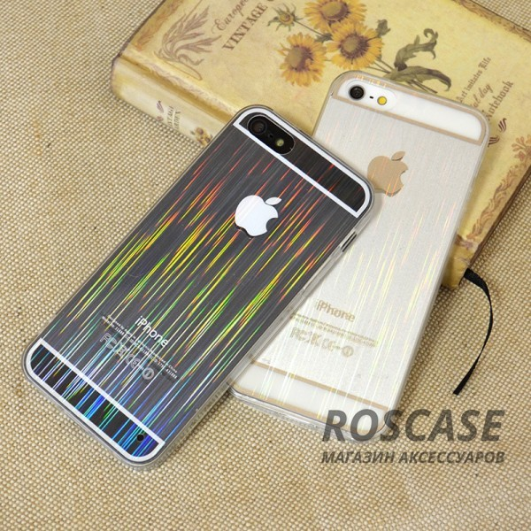 фото ультратонкий TPU+PC чехол magic stripes для Apple iPhone 5/5S/5SE